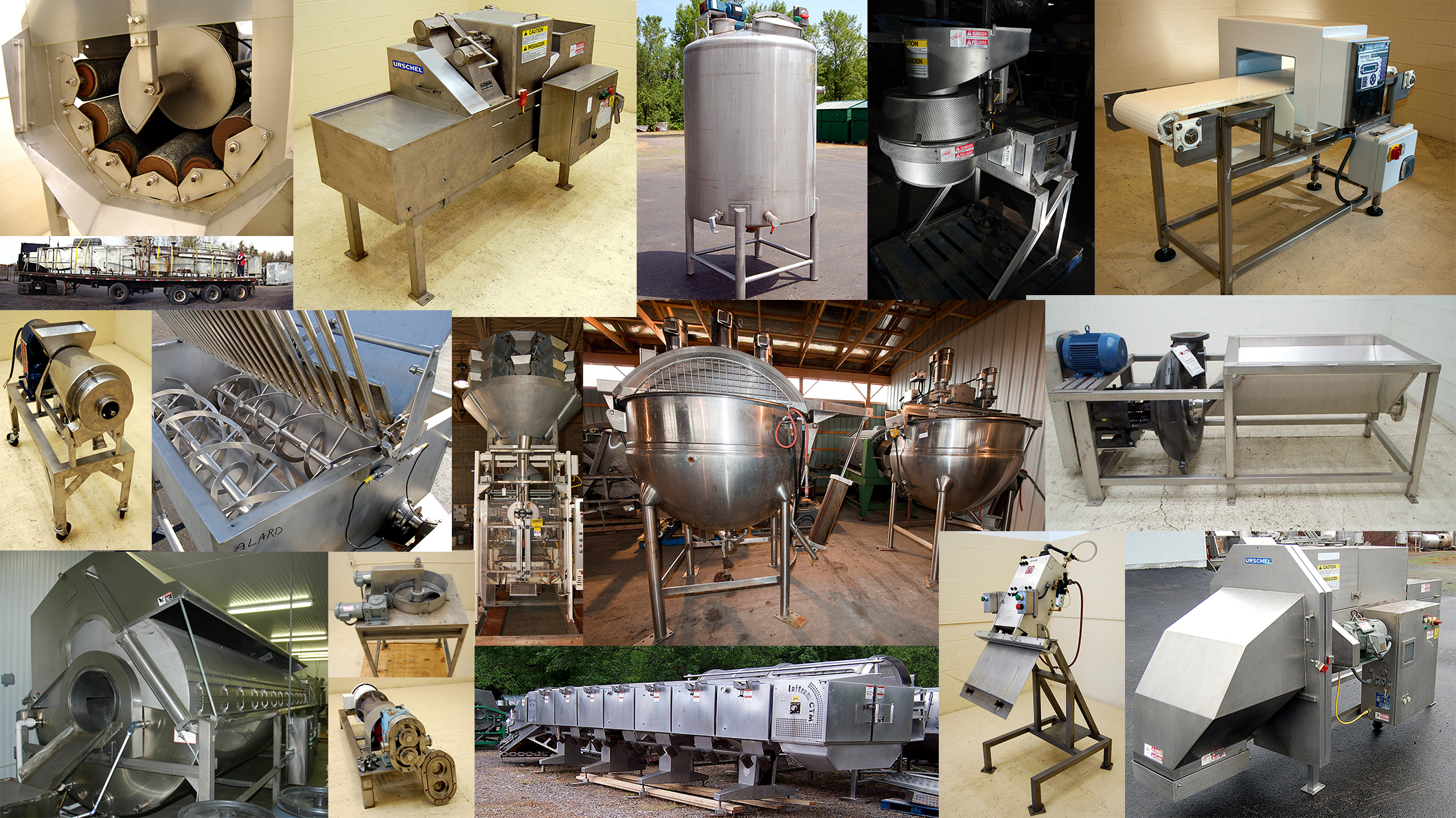 Used food processing and packaging equipment alard for Cuisine commerciale equipement