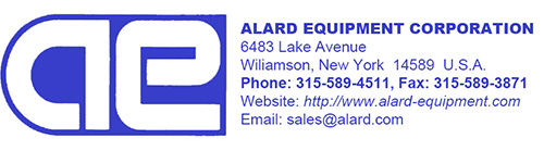 Alard Equipment Corp - used food processing and packaging equipment.