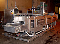 used STAINLESS STEEL SPRAY COOLER / PRAXAIR NATUREWASH OZONE DISINFECTANT WASHER, Alard item Y2105