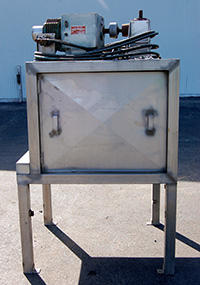 Used, CAULIFLOWER FLORET CUTTER, rotary, semiautomatic, stainless steel, Alard item Y2206