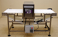 used FOOD GRADE METAL DETECTOR with conveyor, 26 x 7 Fortress Phantom, Alard item Y2481