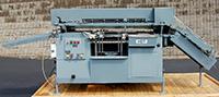 used BURT MODEL 408 HORIZONTAL ROLL THROUGH LABELER, Alard item Y2625