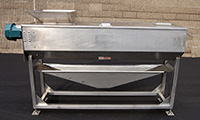 used, FOOD GRADE STAINLESS STEEL INSPECTION AND SORTING CONVEYOR, Palcon, Alard item Y3417