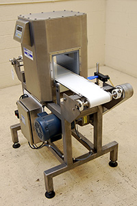 used, RECONDITIONED FOOD PROCESS METAL DETECTOR with CONVEYOR, Lock Model HDS, Alard item Y1827