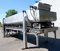 used BELT TRANSFER HYDROSTATIC BLANCHER, 20 x 48, stainless steel, Alard item Y3120