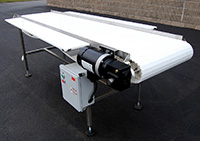 NEW NEW FOOD GRADE FRUIT AND VEGETABLE INSPECTION CONVEYOR, 9x24 four person, Alard item Y3289