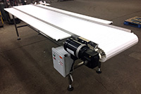 NEW FOOD GRADE FRUIT AND VEGETABLE INSPECTION CONVEYOR, 12x24 six person, Alard item Y3381