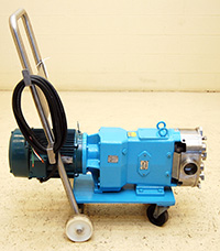 used, WAUKESHA UNIVERSAL 1 Series Model 130 SANITARY ROTARY POSITIVE DISPLACEMENT PUMP, Alard item Y2716