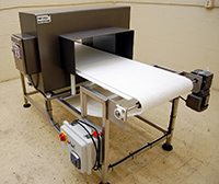 Used, FOOD METAL DETECTOR WITH NEW CONVEYOR, 26x11 opening, Alard item Y2985