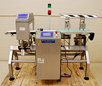 used, CHECKWEIGHER and METAL DETECTOR COMBINATION FOOD PRODUCT INSPECTION SYSTEM, Alard item Y3383