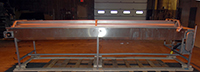 Used, STAINLESS STEEL INSPECTION CONVEYOR, Alard item Y2513