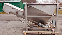 used, RMF Model SCA 1408 feed-hopper / screw-conveyor, Alard item Y2578