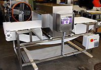 used, FOOD PROCESS METAL DETECTOR WITH NEW CONVEYOR, 26x9 opening, FORTRESS PHANTOM, Alard item Y3251