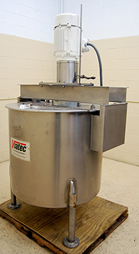 Used, VIATEC 150 gallon VERTICAL MIX TANK with HIGH SHEAR mixer, Alard item Y3367