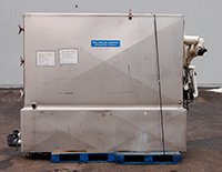 Used FALLING FILM PLATE CHILLER, six plates, 4x8 Mueller; Alard item Y2099
