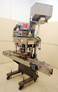 used, KAPS-ALL Model E AUTOMATIC 4 SPINDLE CAPPING MACHINE, Alard item Y2714