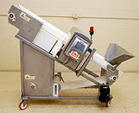 used, FOOD PROCESS METAL DETECTOR with INCLINE CONVEYOR, 14x4, all stainless steel, Alard item Y3081