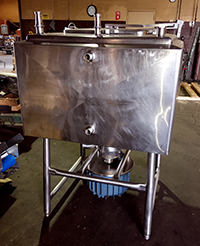 Used 150 gallon LIQUIFIER, STEAM JACKETED, 20HP, Alard item Y3530