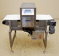 NEW-in-stock food process METAL DETECTOR with BELT CONVEYOR, 18x7, 316T stainless steel, Cassel, Alard item Y3550