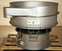NEW, VIBRATORY SEPARATOR SCREEN, ROUND 48 inch diameter, stainless steel, Alard item Y3582
