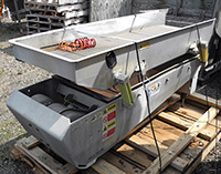 Used Key Iso-Flo vibratory DEWATERING SCREEN, vibrating shaker grader, 72 inches long by 24 inches wide, stainless steel; Alard item Y3529