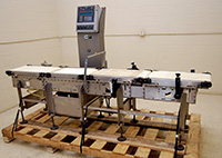 used CASE WEIGHER, CHECKWEIGHER stainless steel; Alard item Y2564