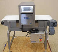 New in stock FOOD METAL DETECTOR with CONVEYOR, 18x9, Cassel Metalshark2, Alard item Y3549