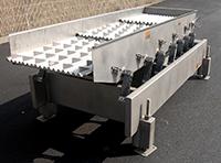 used Key Iso-Flo vibrating ALIGNER FEEDER, 102x32, stainless steel, Alard item Y3650