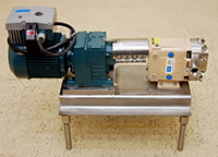 Used Waukesha model 6 PUMP with 2HP variable speed, Alard item Y3710