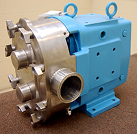 used WAUKESHA UNIVERSAL 1 Series Model 130 SANITARY ROTARY POSITIVE DISPLACEMENT PUMP, Alard item Y2776