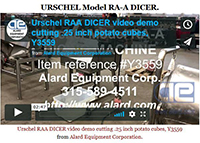 DEMO VIDEO - Reconditioned Urschel RA-A cutting home fries.URSCHEL MODEL GRL FRENCH FRY CUTTER / STRIP CUTTER; Alard item Y3480