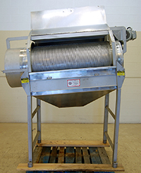 used Franken FRUIT AND VEGETABLE TUMBLE WASHER REEL / DEWATERING DRUM, stainless steel, Alard item Y3689
