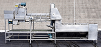 used, CMI ONION PEELER / SLIT and BLOW ONION PEELING MACHINE; Alard item Y3751