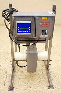 Used SAFELINE PIPELINE METAL DETECTOR for 4 inch line, food grade stainless steel, Alard item Y2582