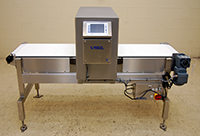 NEW FOOD PROCESS METAL DETECTOR with BELT CONVEYOR, 20x12, 316T stainless steel, Alard item Y3606