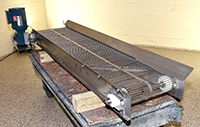 used Dunkley ROD BELT CONVEYOR, FOOD GRADE STAINLESS STEEL, 72x15, Alard item Y3817