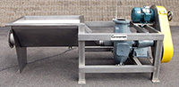 Used 6 INCH HYDRO TRANSPORT FOOD PUMP with STAINLESS STEEL VORTEX TANK and 5 HP DRIVE, Alard item Y2619