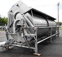 used LYCO ROTARY DRUM COOKER COOLER, 72 inch diameter by 20 foot long, Model 8900, Alard item Y3611