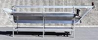 Used THREE-LEVEL INSPECTION CONVEYOR, stainless steel, 14 feet long, Alard item Y3637