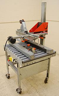used, SOCO T-100 SEMI-AUTOMATIC CASE SEALER; Alard item Y3696