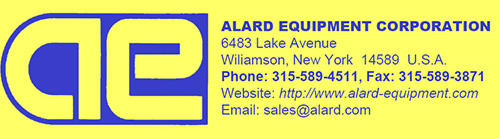 Alard Equipment Corp used processing and packaging equipment for pre-cut produce.