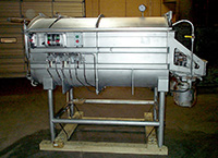 used Mepaco INDUSTRIAL VACUUM FOOD MIXER-BLENDER, 40 cubic foot, twin ribbon, all stainless, Alard item Y3719