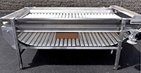used, ROLLER BED INSPECTION CONVEYOR, food grade stainless steel; Alard item Y3806