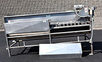 used Willsie, FRUIT BRUSH WASHER WAXER, VEGETABLE SCRUBBER, all stainless steel, Alard item Y4015