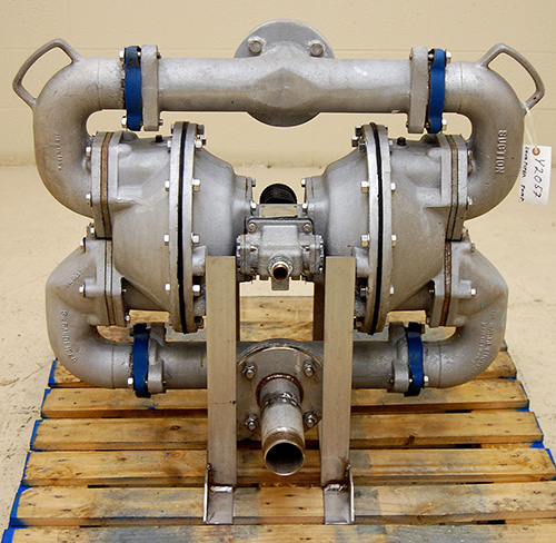 used 3 INCH STAINLESS STEEL DIAPHRAGM PUMP, SANDPIPER Model SA3-A / HDF3-A, T316 stainless steel, Alard item Y2057