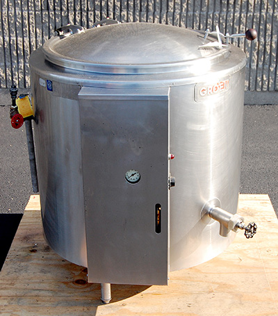 used Groen 40 GALLON SELF-CONTAINED ELECTRIC KETTLE, food grade stainless steel, Alard item Y3581
