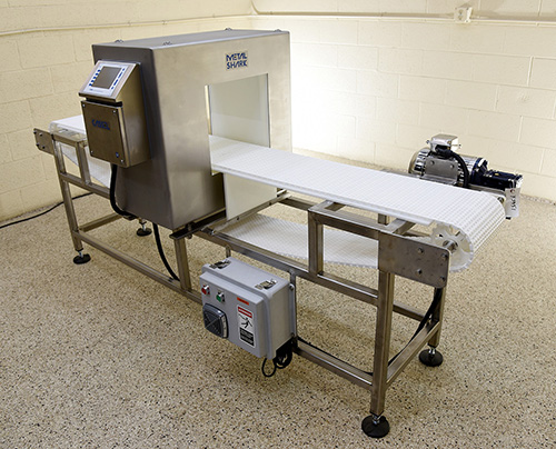 NEW Cassel Metalshark2 FOOD PROCESS METAL DETECTOR with BELT CONVEYOR, 13x12, stainless steel, Alard item Y3951