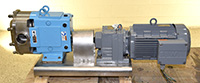 Used, WAUKESHA UNIVERSAL 2 Series Model 130 SANITARY ROTARY POSITIVE DISPLACEMENT PUMP, Alard item Y2330