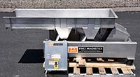 used Eriez Magnetics DEWATERING SHAKER-GRADER, vibrating feeder, food grade, all stainless steel, Alard item Y3907