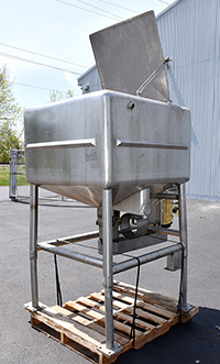 200 GALLON LIQUEFIER, stainless steel, 20HP, Alard item Y0847